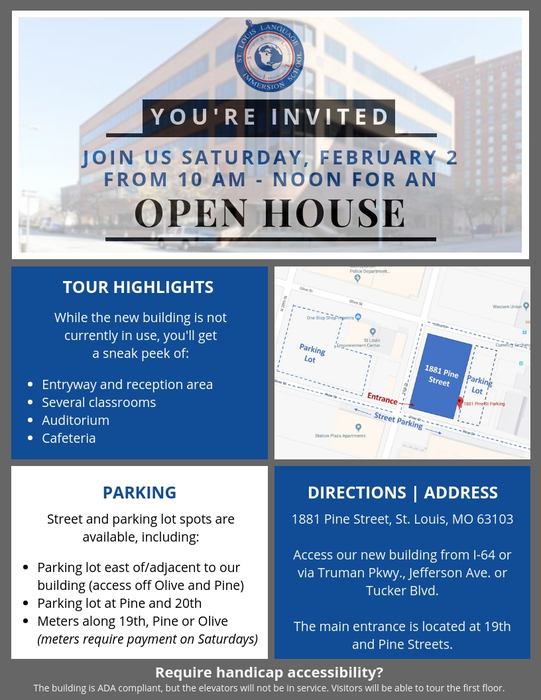 Pine Open House Flyer