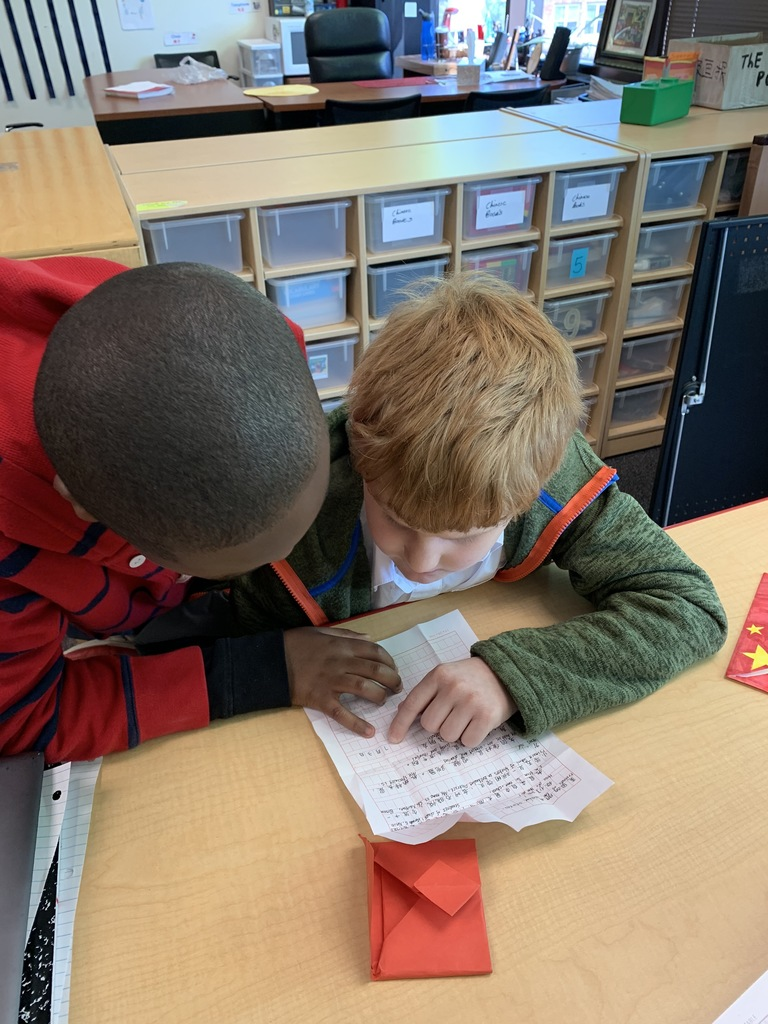 Chinese 5/6 grader students got their mails from their pen pals in China.