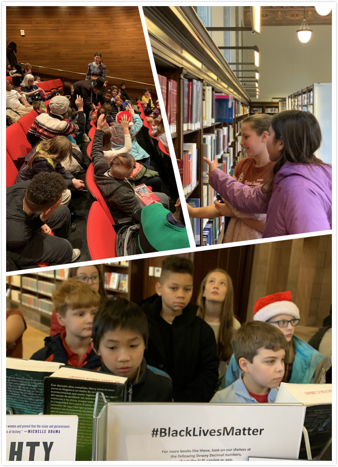 5th and 6th graders enjoyed the perks of being in downtown, walking field trip to the city library. We had our regular morning lessons in the library hall followed by a great youth tour.