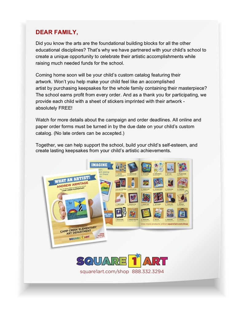 Square1 Letter to Families